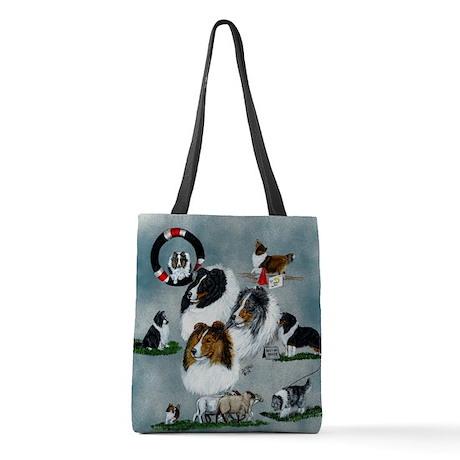 sheltie versatility Polyester Tote Bag