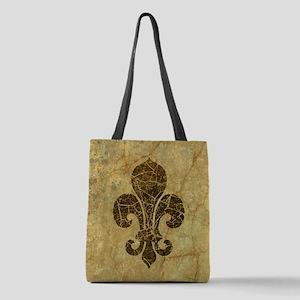 fleur-de-lis-cracked_b Polyester Tote Bag