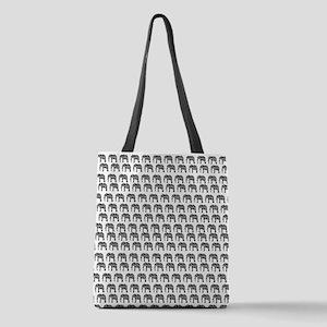 Damask Elephant Pattern Polyester Tote Bag