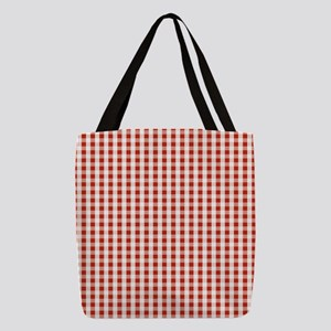 Small Red Gingham Polyester Tote Bag