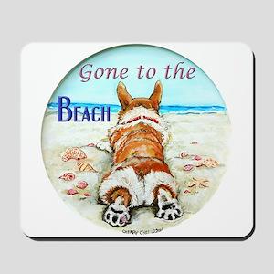 Corgi Beach Mousepad