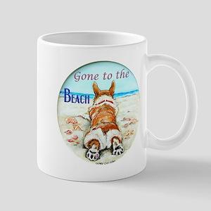 Corgi Beach Mugs