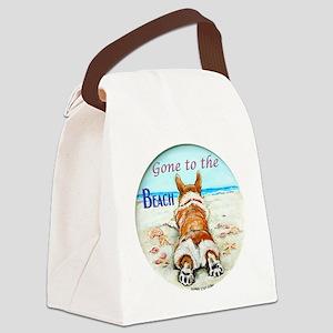 Corgi Beach Canvas Lunch Bag