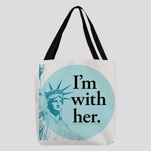 I'm with her - b5 Polyester Tote Bag