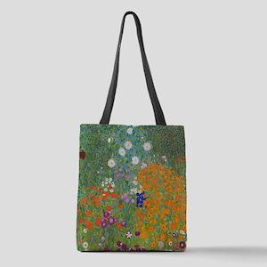 Flower Garden Polyester Tote Bag