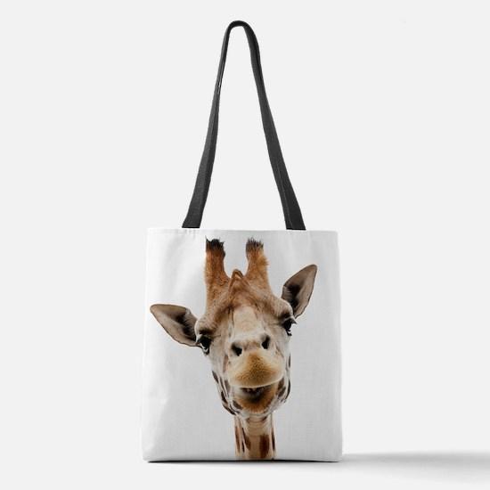 Funny Smiling Giraffe Polyester Tote Bag