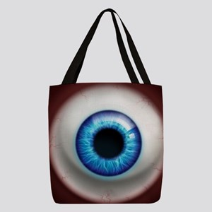 16x16_theeye_electric Polyester Tote Bag