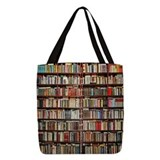 Books Polyester Tote Bag