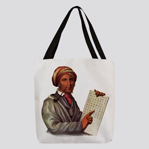 Sequoyah, The Cherokee Scholar Polyester Tote Bag