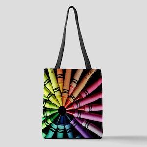 Crayons Polyester Tote Bag