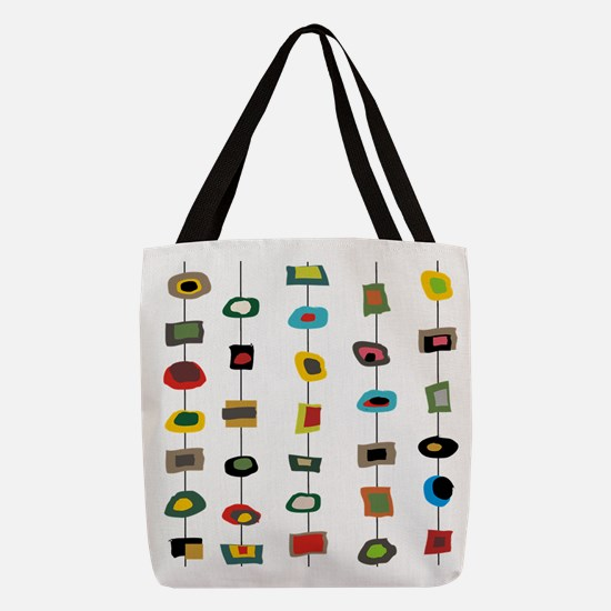 mcm abstract strands 3 Polyester Tote Bag