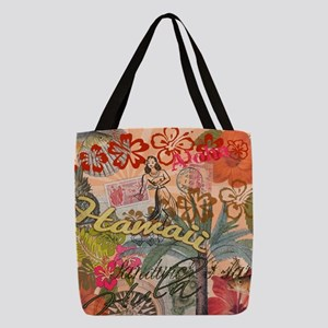Vintage Hawaii Travel Colorful  Polyester Tote Bag