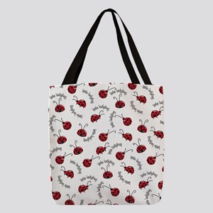 Little Red Ladybugs Polyester Tote Bag