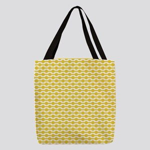Retro Yellow Beads Polyester Tote Bag