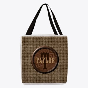 Customizable Monogram Polyester Tote Bag
