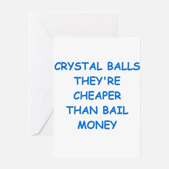 crystal ball Greeting Cards
