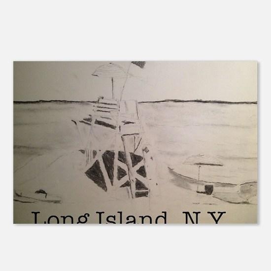 Long Island, N.Y. Postcards (Package of 8)