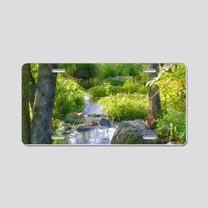 Down by the Creek Aluminum License Plate