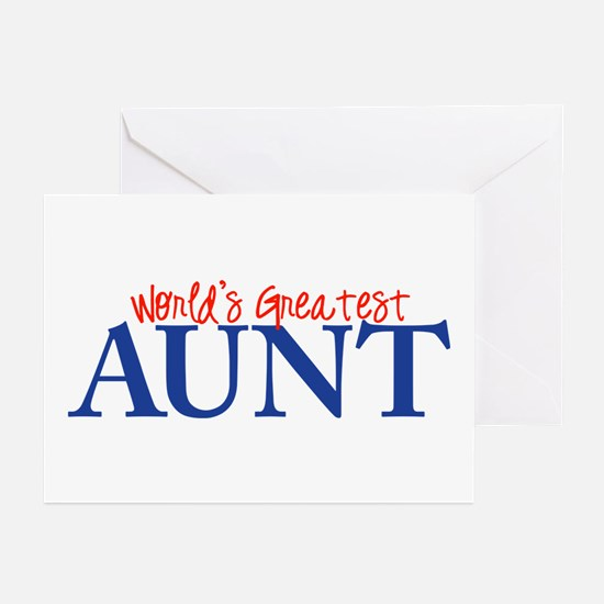 World's Greatest Aunt II Greeting Cards (Package o