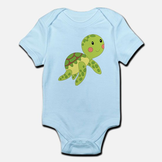 Baby Floating Turtle Body Suit