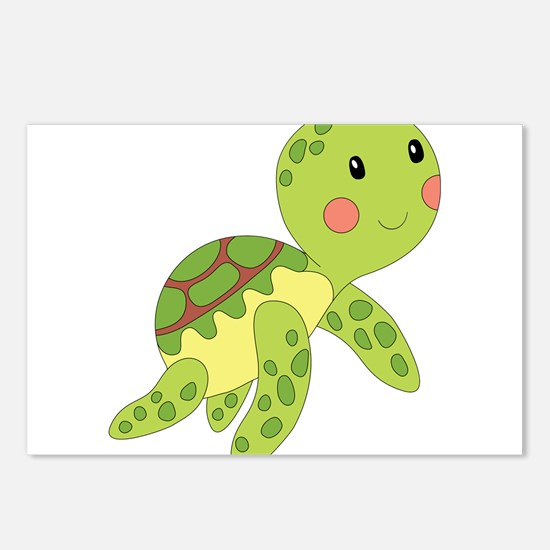 Baby Floating Turtle Postcards (Package of 8)