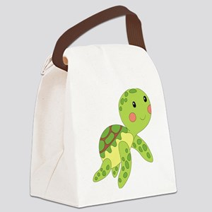 Baby Floating Turtle Canvas Lunch Bag