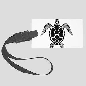 Black Turtle Luggage Tag
