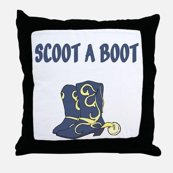 Scoot A Boot Throw Pillow