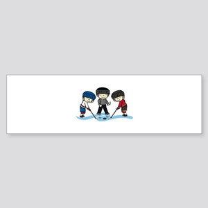 Hockey Game Bumper Sticker