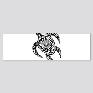 Black Hawaiian Turtle-2 Bumper Sticker