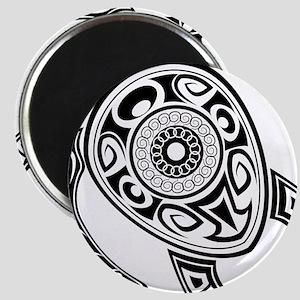 Black Hawaiian Turtle-2 Magnets