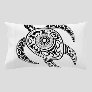 Black Hawaiian Turtle-2 Pillow Case