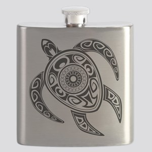 Black Hawaiian Turtle-2 Flask