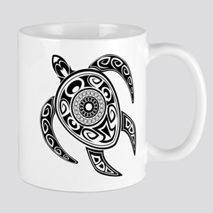 Black Hawaiian Turtle-2 Mugs