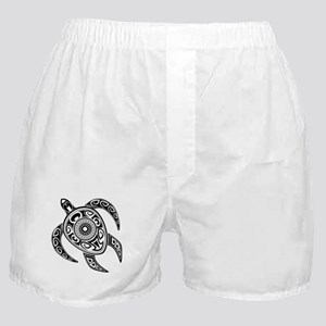 Black Hawaiian Turtle-2 Boxer Shorts