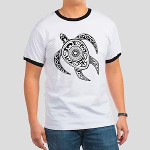 Black Hawaiian Turtle-2 T-Shirt