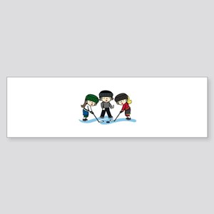 Hockey Girls Bumper Sticker
