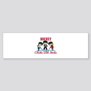 Chicks With Sticks Bumper Sticker