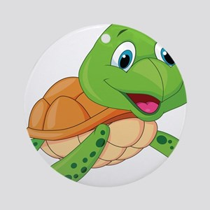Baby Green Turtle-6 Ornament (Round)