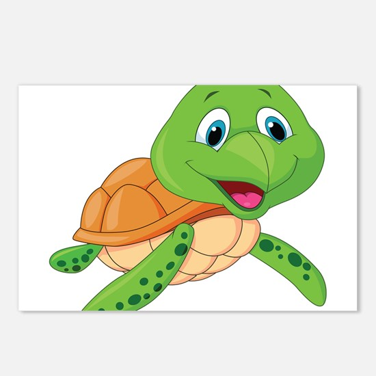 Baby Green Turtle-6 Postcards (Package of 8)