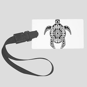 Black Hawaiian Turtle-4 Luggage Tag