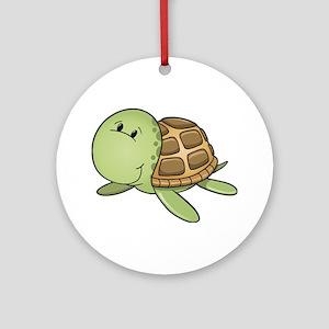 Cartoon Turtle-2 Ornament (Round)