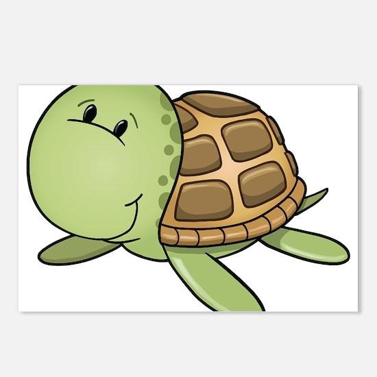 Cartoon Turtle-2 Postcards (Package of 8)