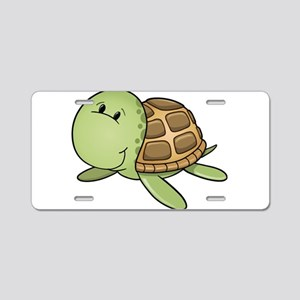Cartoon Turtle-2 Aluminum License Plate