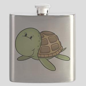 Cartoon Turtle-2 Flask