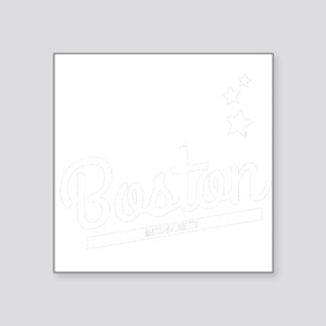 Distressed Retro Boston Logo Sticker