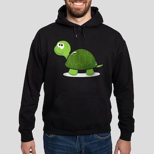 Green Cartoon Turtle-3 Hoodie