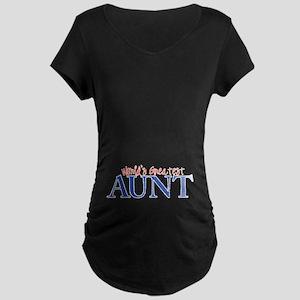 World's Greatest Aunt II Maternity Dark T-Shirt