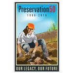 Preservation50 Archeologist Large Poster