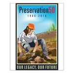 Preservation50 Archeologist Small Poster